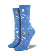 Meds Fun Socks for women blue or black