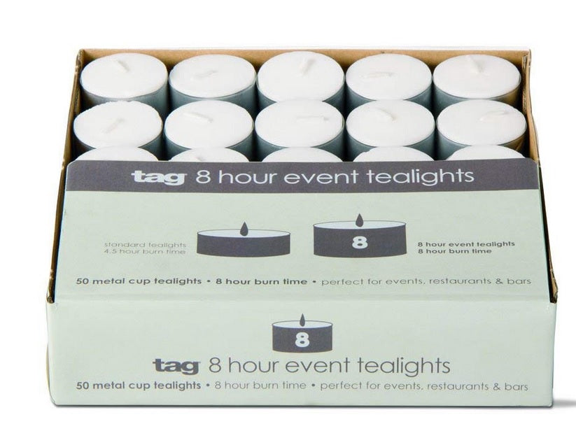 Tealight Event Candles, Perfect for Adding a Little Light to Any Room, White