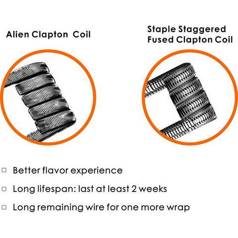 GeekVape Alien and Staple Staggered Fused Claptons