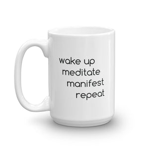 Meditate Manifest Repeat Mug