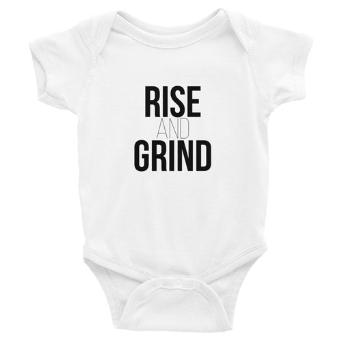 Rise and Grind Baby Onesie