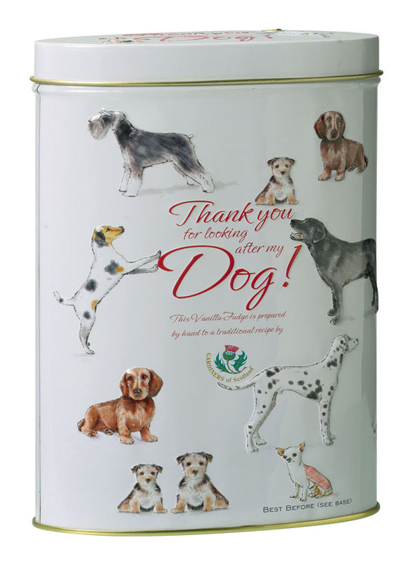 Vanilla Fudge Gift Tin - Thank you for looking after my Dog