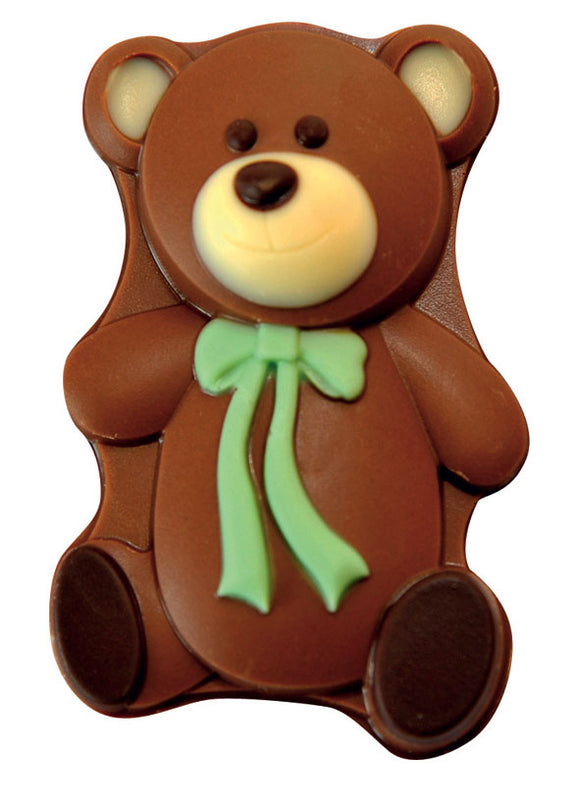 Ted the Teddy Bear - Decorated Solid Luxury Milk Chocolate Novelty Figure
