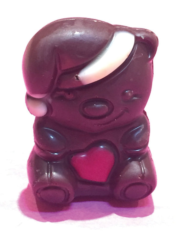 Belgian Chocolate Praline Filled Christmas Characters - Dark Chocolate Bear