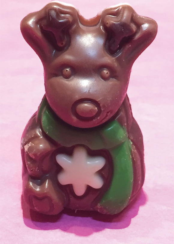 Belgian Chocolate Praline Filled Christmas Characters - Milk Chocolate Reindeer