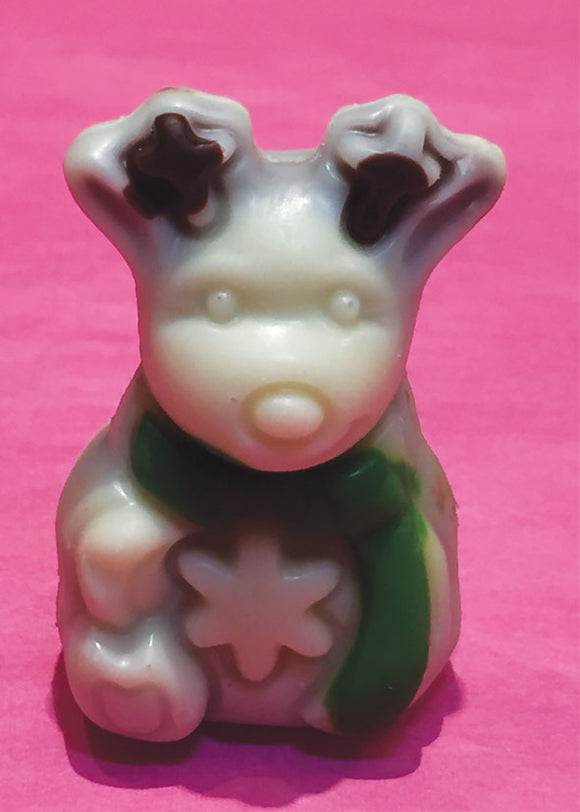 Belgian Milk Chocolate Praline Filled Christmas Characters - White Reindeer