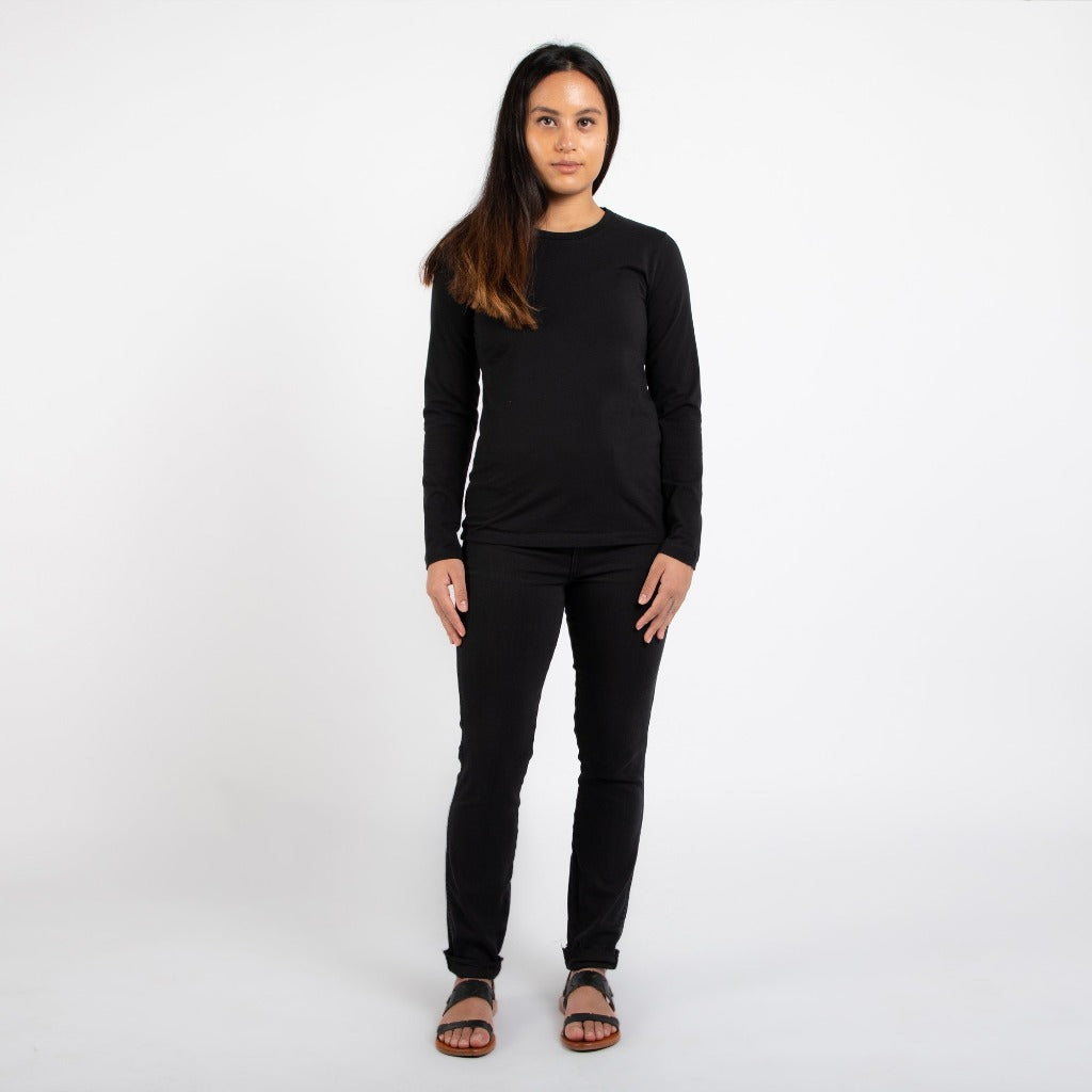 Dorsu | Ethical Cotton Basics | Staple Long Sleeve | Black