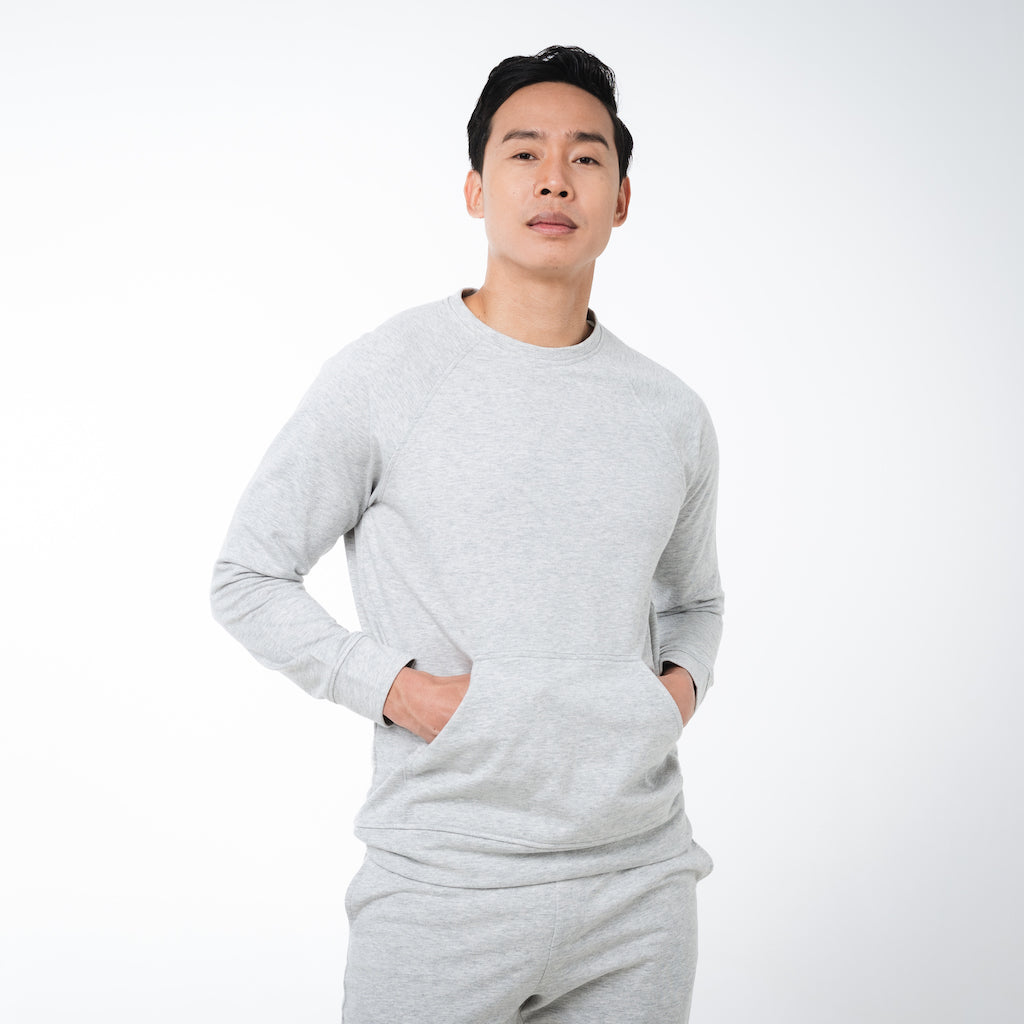 Dorsu | Ethical Cotton Basics | Men's Sweatshirt | Grey Marle
