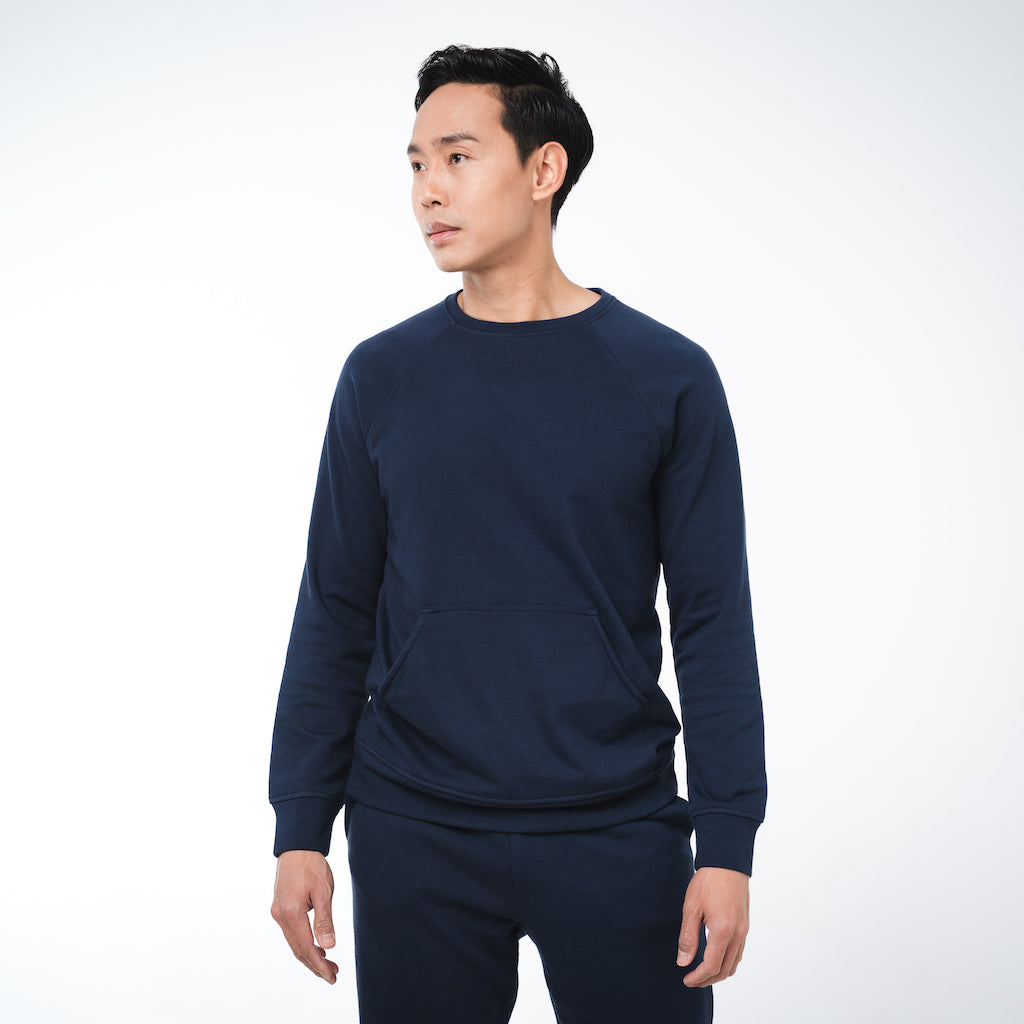 Dorsu | Ethical Cotton Basics | Men's Sweatshirt | Navy