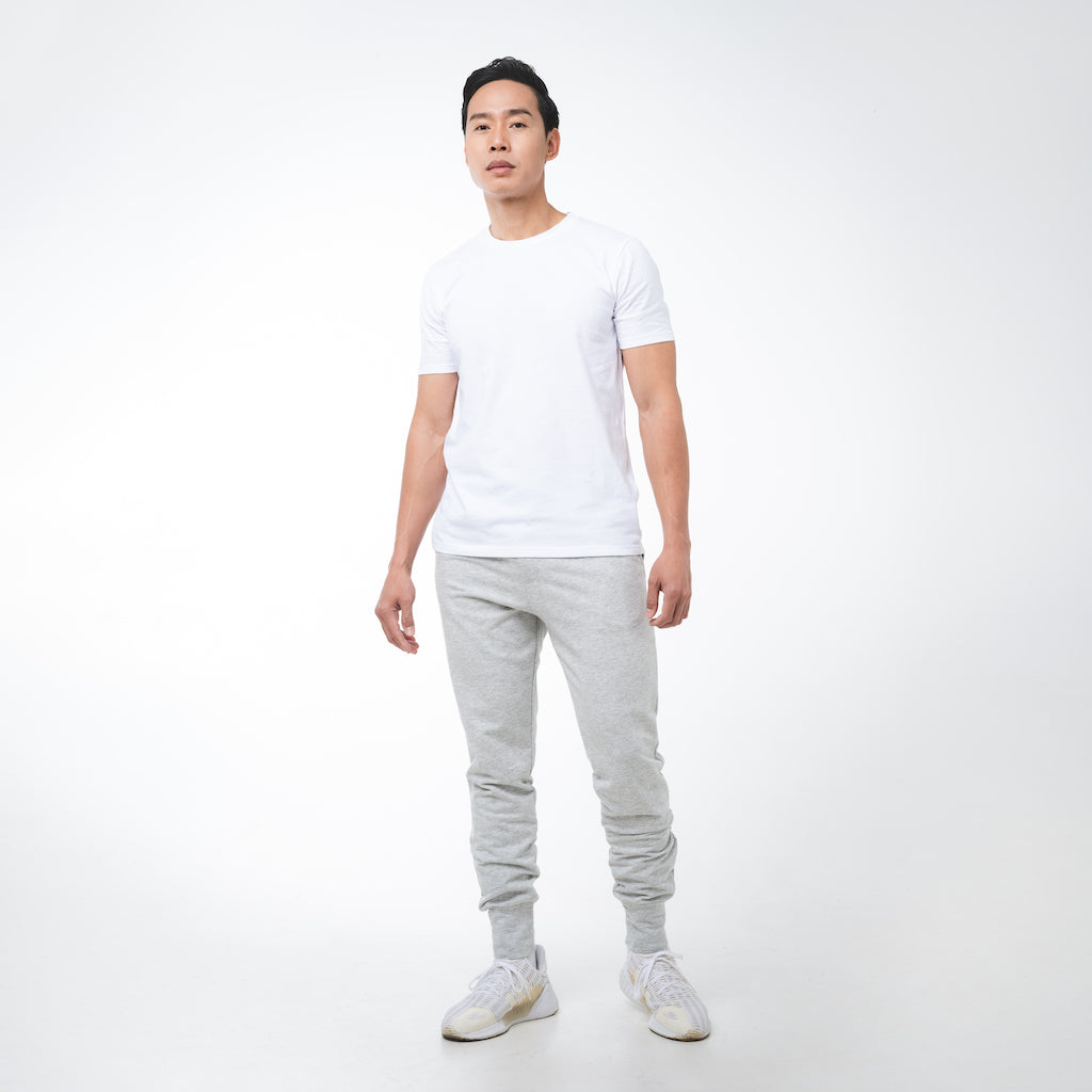 Dorsu | Ethical Cotton Basics | Men's Joggers | Grey Marle