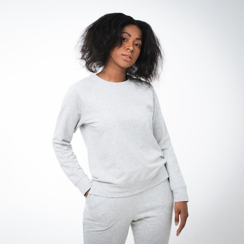 Dorsu | Ethical Cotton Basics | Women's Sweatshirt  | Grey Marle