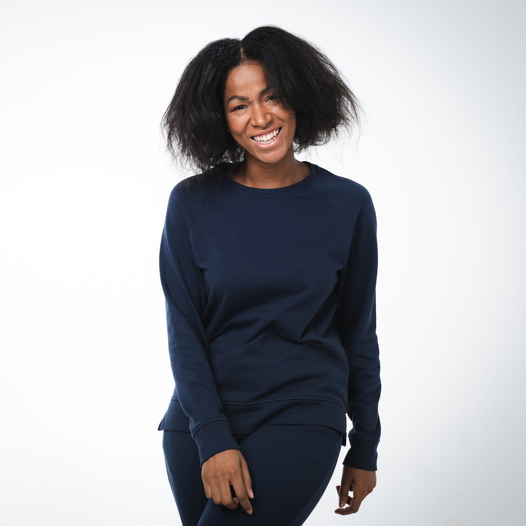 Dorsu | Ethical Cotton Basics | Women's Sweatshirt  | Navy