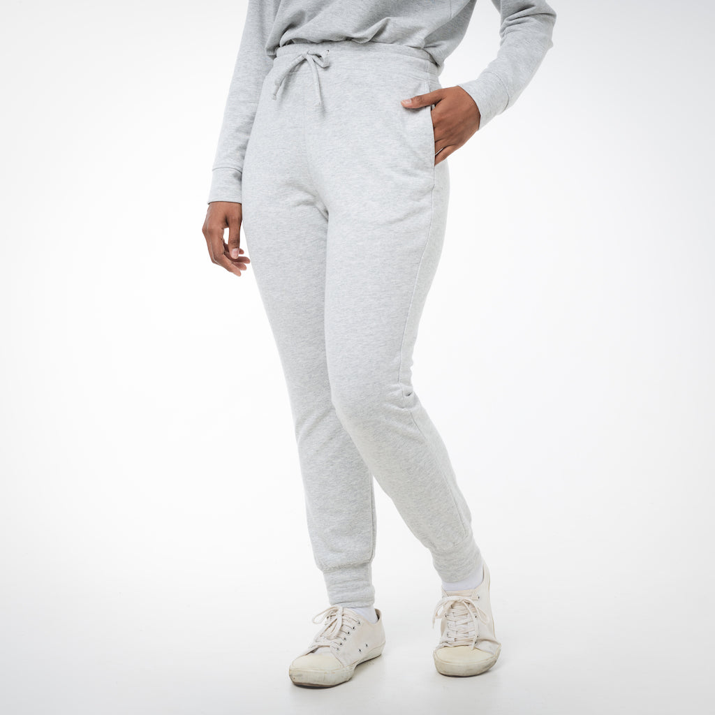 Dorsu | Ethical Cotton Basics | Women's Joggers  | Grey Marle