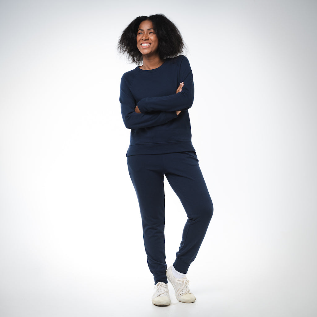 Dorsu | Ethical Cotton Basics | Women's Joggers  | Navy