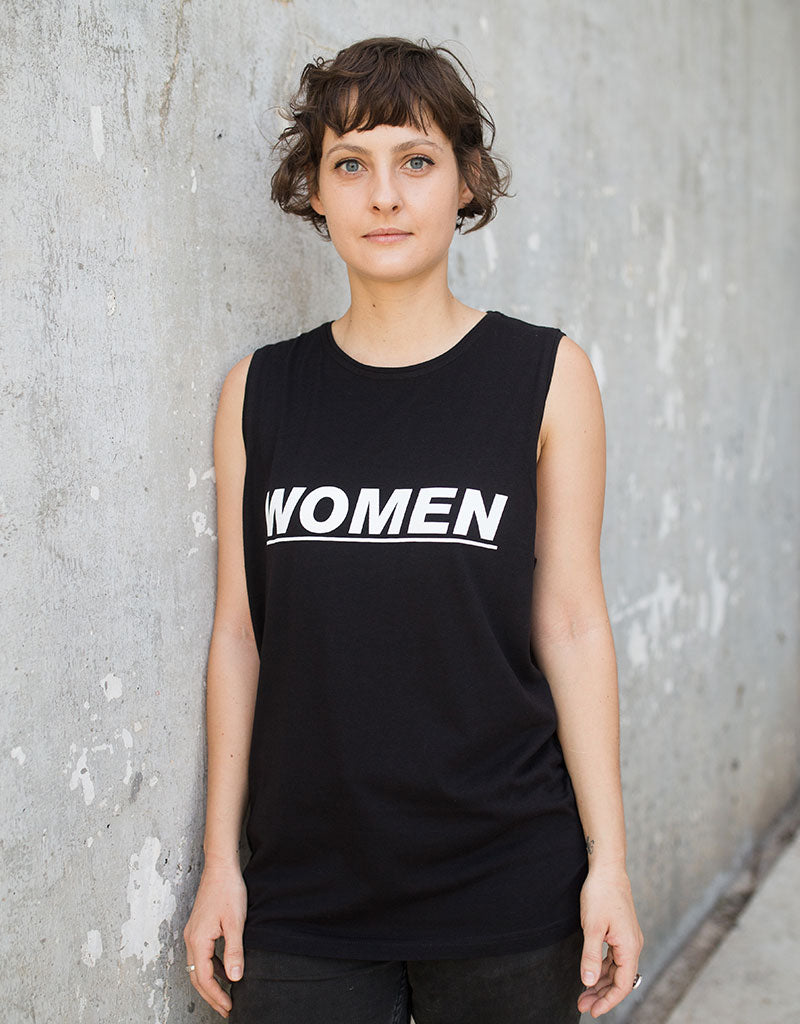 Dorsu | Ethical Cotton Basics | WOMEN Muscle Tank | Black