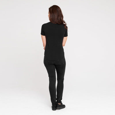 Dorsu | Ethical Cotton Basics | Fitted T-Shirt | Black
