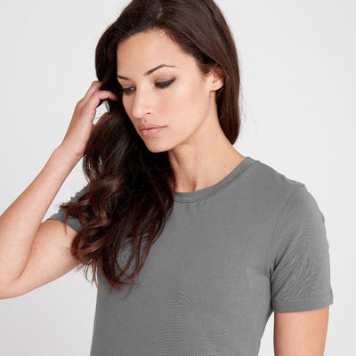 Dorsu | Ethical Cotton Basics | Fitted T-Shirt | Stone Grey