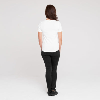 Dorsu | Ethical Cotton Basics | Fitted T-Shirt | White