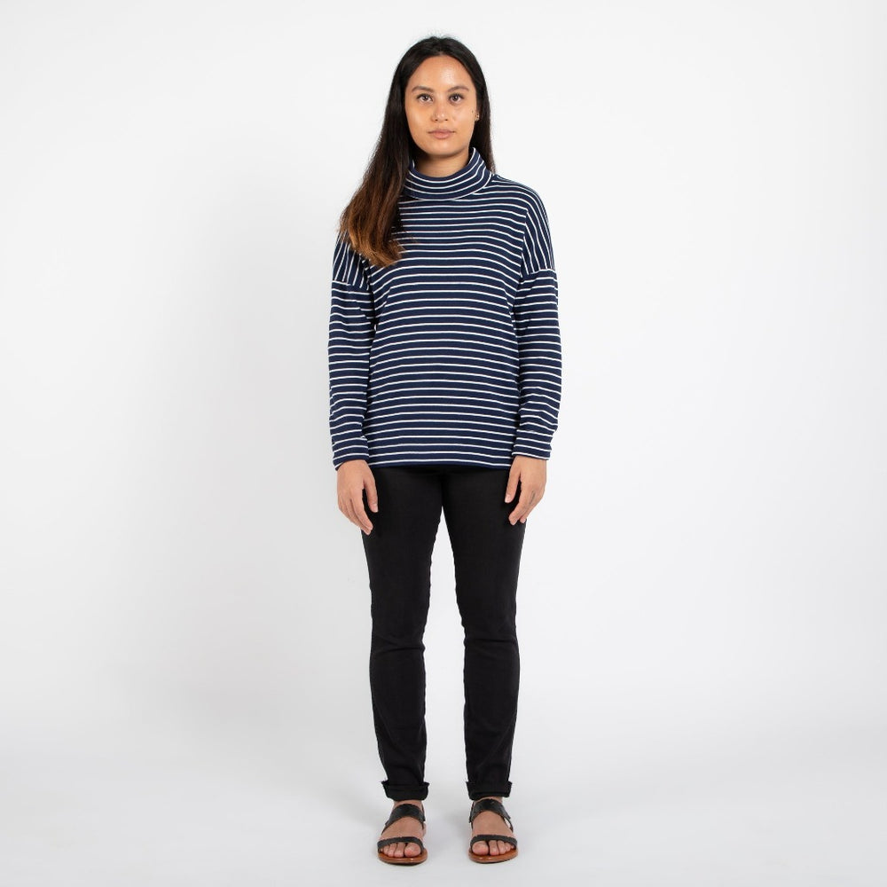 Striped Sweater | Navy Stripe