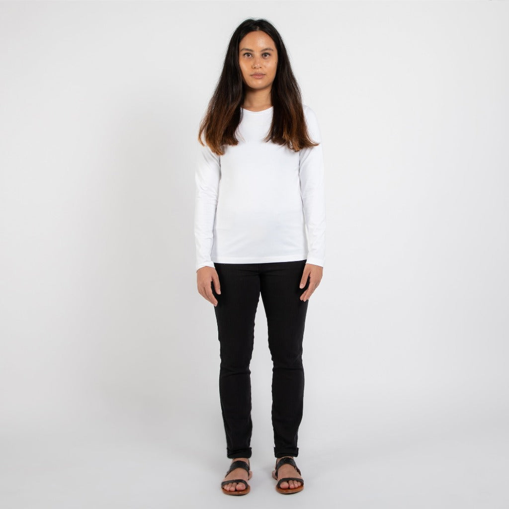 Dorsu | Ethical Cotton Basics | Staple Long Sleeve | White