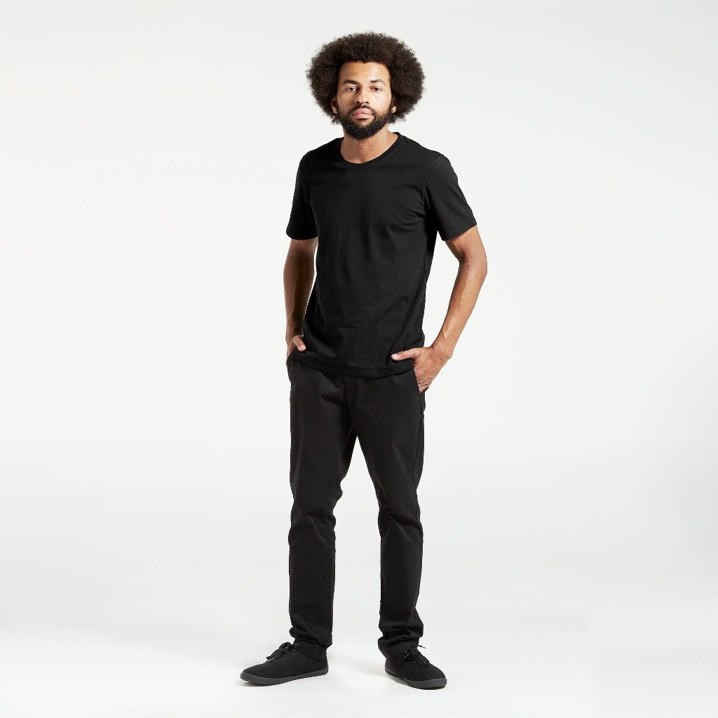 Dorsu | Ethical Cotton Basics | Cotton Crew | Black
