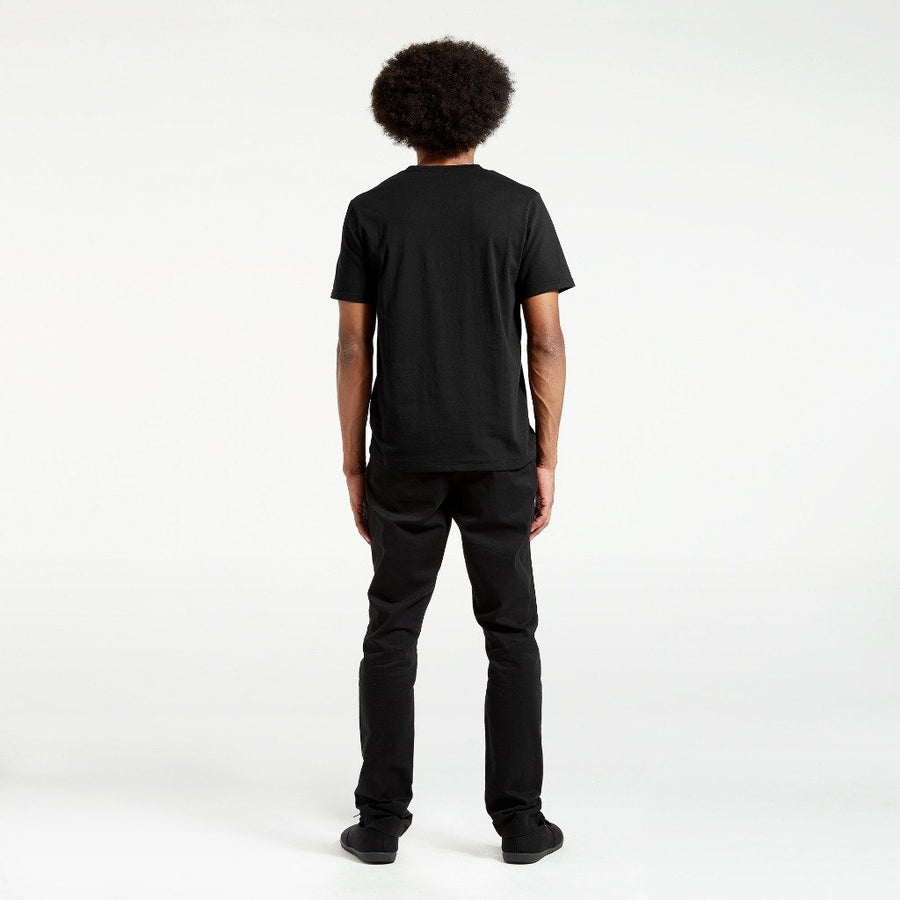 Ethical Men's Shirts - Cotton Crew | Black -  by Dorsu Australia. Sustainably sourced and ethically made in Cambodia