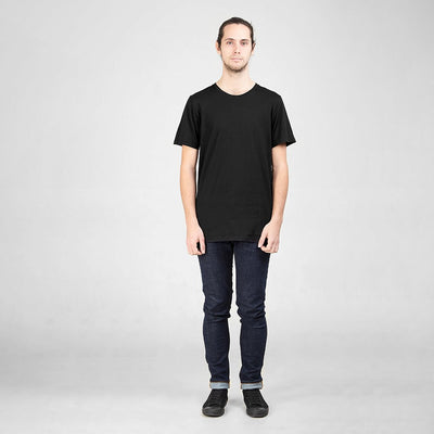 Ethical Men's Shirts - Cotton Tall Crew | Black -  by Dorsu Australia. Sustainably sourced and ethically made in Cambodia