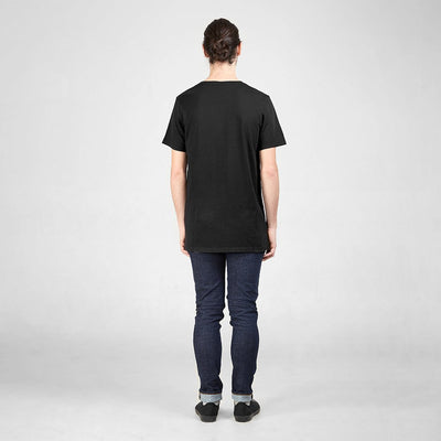 Dorsu | Ethical Cotton Basics | Cotton Tall Crew | Black