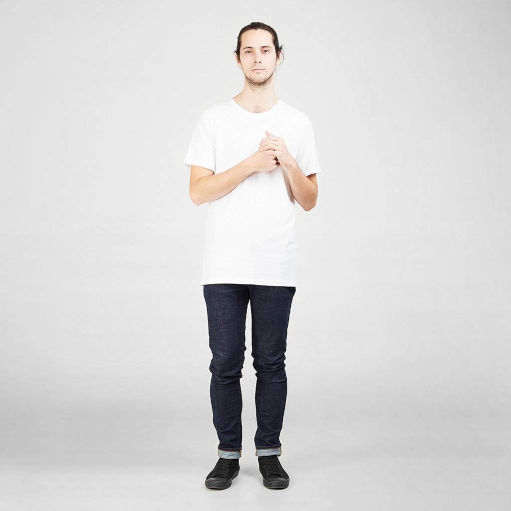Dorsu | Ethical Cotton Basics | Cotton Tall Crew | White