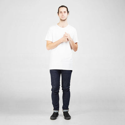 Ethical Men's Shirts - Cotton Tall Crew | White -  by Dorsu Australia. Sustainably sourced and ethically made in Cambodia