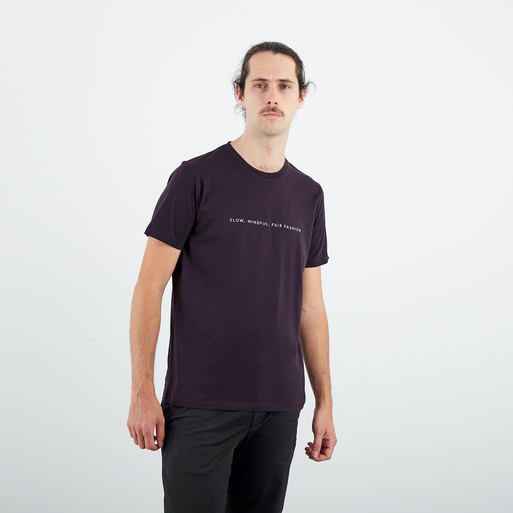 Dorsu | Ethical Cotton Basics | SMFF Men's T-Shirt   | Grape