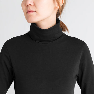 Dorsu | Ethical Cotton Basics | Long Sleeve Turtleneck | Black