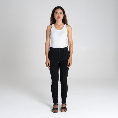Dorsu | Ethical Cotton Basics | Ribbed Singlet  | White
