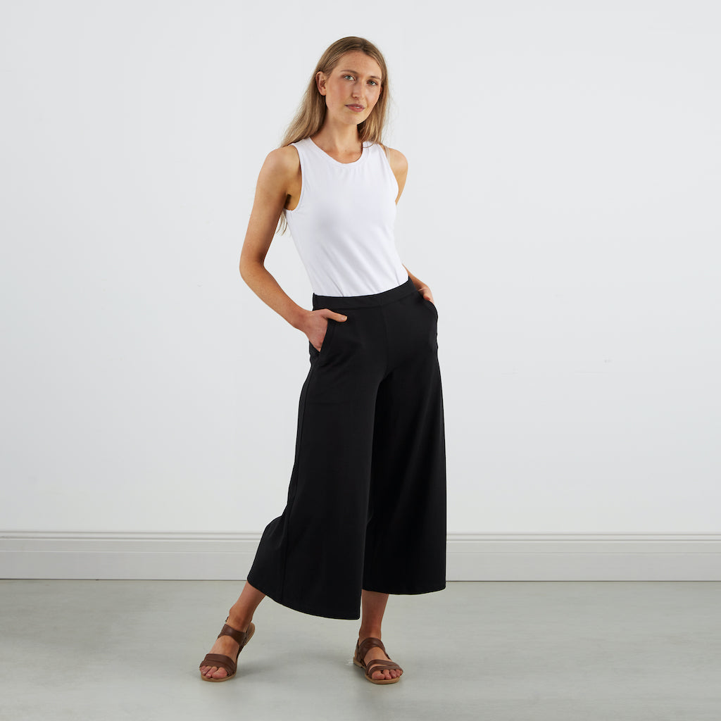 Dorsu | Ethical Cotton Basics | Culottes | Black