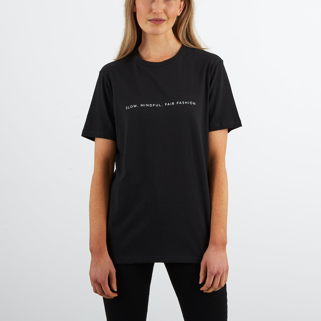 Dorsu | Ethical Cotton Basics | SMFF All Day T-shirt | Black