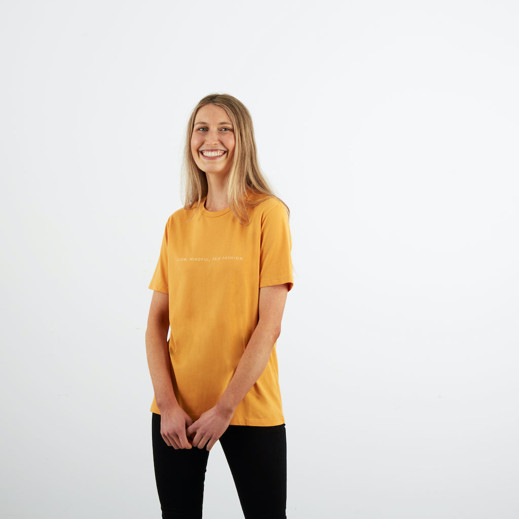 Dorsu | Ethical Cotton Basics | SMFF All Day T-shirt | Mustard