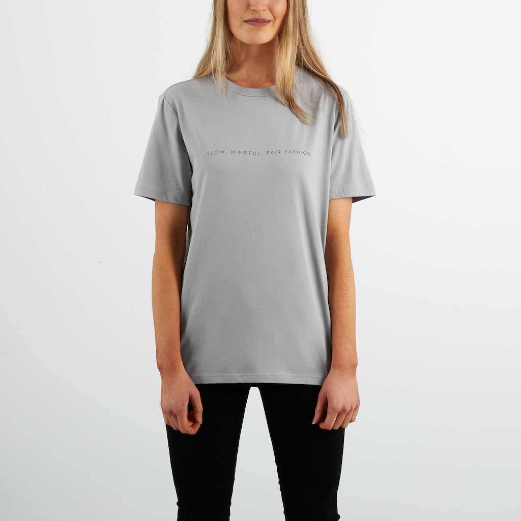 Dorsu | Ethical Cotton Basics | SMFF All Day T-shirt   | Pearl Grey