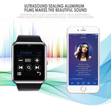 Smart Watch Android iPhone avec notifications bluetooth micro + haut parleur pour les appels