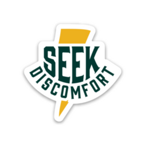 Seek Discomfort Thunder Bolt Sticker