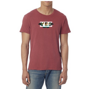 Seek Discomfort Yes Butterfly Tee (Red Pigment)