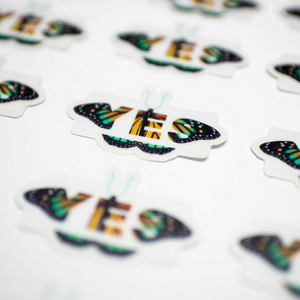 YES Butterfly Sticker