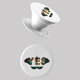 Seek Discomfort Yes Butterfly White Pop Socket