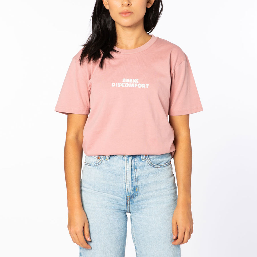 Rose / White Sketched Logo Short Sleeve Tee