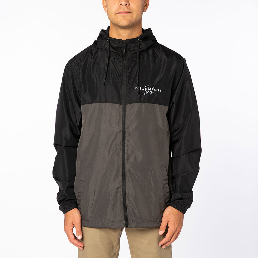 Gray & Black Signature Logo Windbreaker