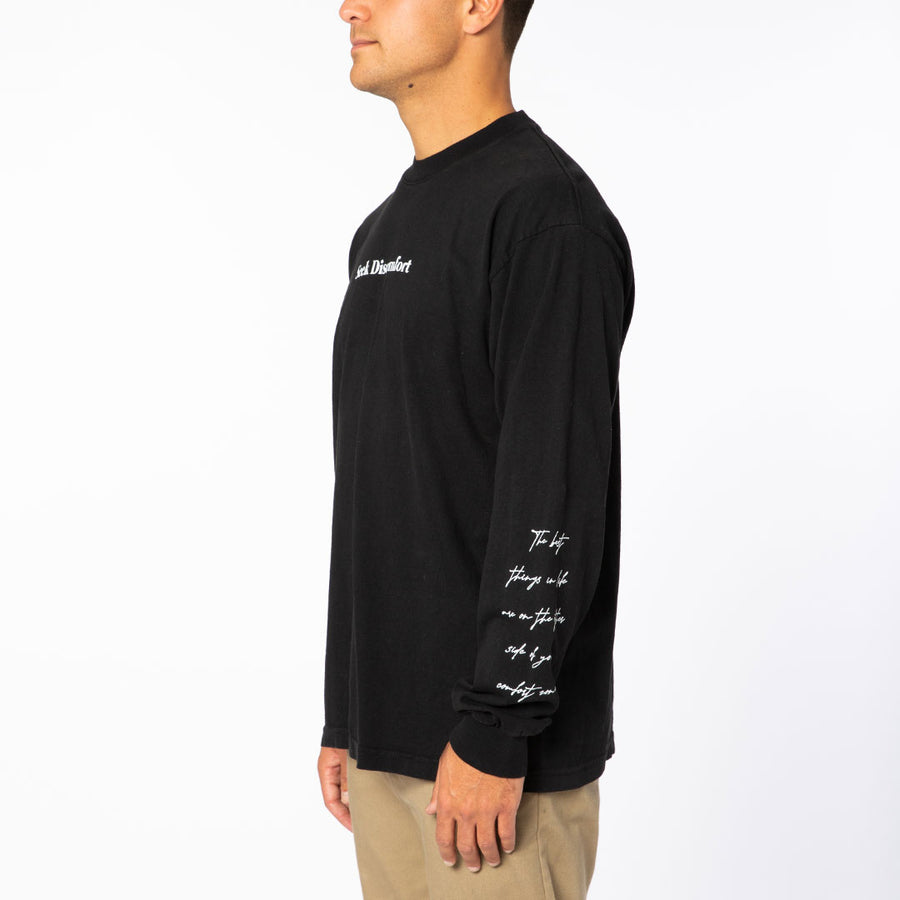Black / White 'Comfort Zone' LS Tee