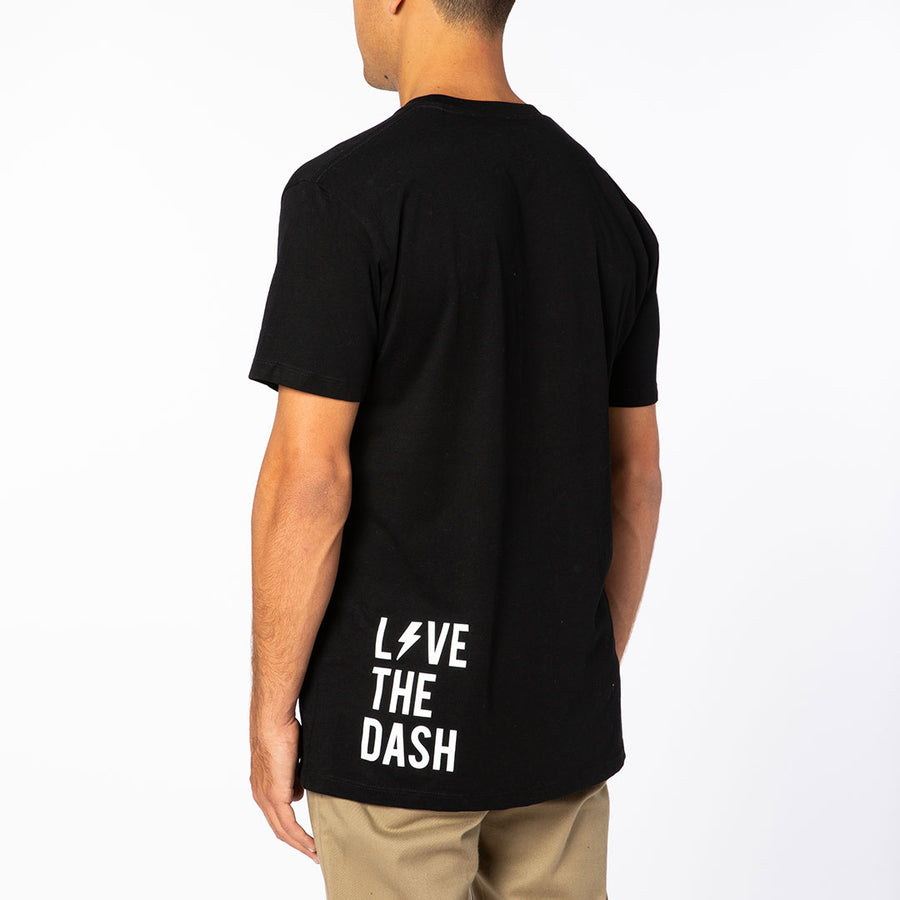 Black / White Live the Dash Short Sleeve Tee