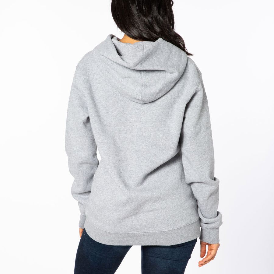 Heather Gray / Black Embroidered Cursive French Terry Hoodie