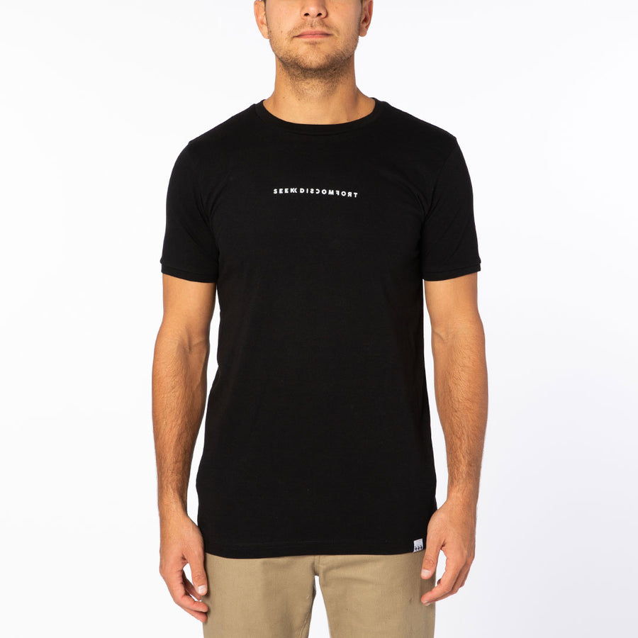 Black / White Logo Short Sleeve Staple Tee