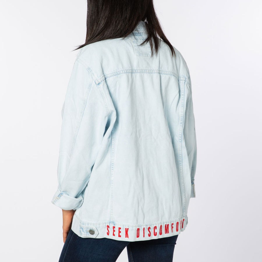 Light Wash Seek Discomfort Denim Jacket