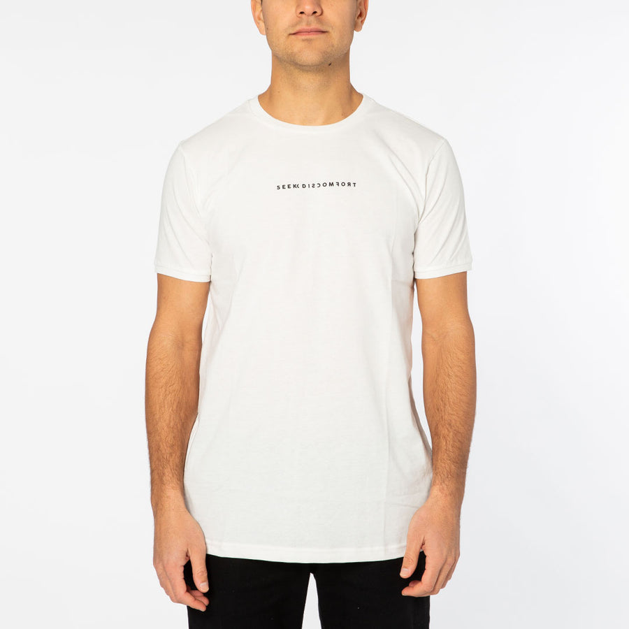 White / Black Logo Short Sleeve Staple Tee